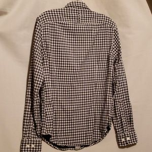 Banana Republic Tops - BANANA REPUBLIC BLK/WHT CHECK SHIRT Sz S